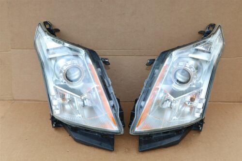 2010-15 Cadillac SRX Halogen Headlight Head Light Set LH & RH - POLISHED