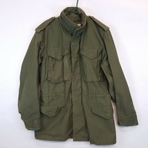 Vtg 70s Alpha Ind Vietnam US Army Field Jacket M65 Cold Weather Small Long SL - $92.17