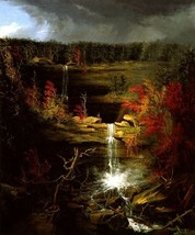 Falls Of Kaaterskill Nature American Landscape Painting By Thomas Cole Repro - $10.96+