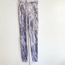 P'tula Chandre White Grey Legging Sz Small Birch Print Yoga Pockets Side... - $29.66