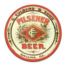 C Eulberg Sons Pilsner Lager Beer Ale Bar AccessoryRound MDF Wood Sign - $29.65