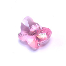 2 pcs 18mm Light Rose (223) Genuine Swarovski 6754 Crystal Butterfly Pen... - $10.37