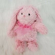 "10"" Commonwealth Bunny Rabbit Pink Furry Plush Easter Stuffed Animal Toy B350 - $11.99"