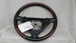 03-06 Porsche Cayenne 955 Wood/ Blk Leather 3 Spoke Steering Wheel 7L5419091 image 1