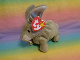Vintage 1999 Ty Beanie Baby Nibbly Bunny Rabbit Bean Bag Plush w/ Tags - $2.92