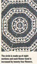 4X Wagon Wheel Lace Rosettes Leaf Flower Tablecloth Crochet Pattern image 4