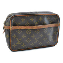 LOUIS VUITTON Monogram Compiegne 23 Clutch Bag M51847 LV Auth 8783 **Sticky - $120.00