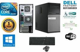 Dell 990 TOWER i7 2600 Quad  3.40GHz 8GB 500GB SSD + 2TB Storage Win 10 HP 64 - $462.23