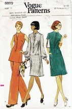 Vintage 1970's Misses' DRESS, TUNIC & PANTS Vogue Pattern 8899-v Size 12 - $12.00