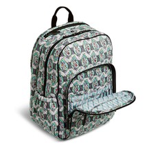 Vera Bradley Signature Cotton Campus Tech Backpack, Paisley Stripes image 4