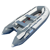 BRIS 9.8 ft Inflatable Boat Dinghy 4 Person Pontoon Boat Tender Fishing Raft image 1