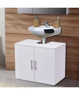2 Door Under Sink Bathroom Storage Cabinet Modern Organiser Bath Furnitu... - $74.99