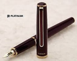 Platinum 14K standard fountain pen PTL-5000A # 70 Red medium - $57.36