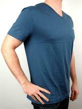 Lacoste Men's Premium Athletic Pima Cotton V-Neck Shirt T-Shirt Typhoon Sz M image 3