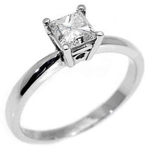 1.15CT WOMENS SOLITAIRE PRINCESS SQUARE CUT DIAMOND ENGAGEMENT RING WHIT... - £3,382.89 GBP