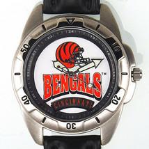 Cincinnati Bengals NFL, Fossil Unworn Man's Vintage 1996 Leather Band Watch! $79 - $78.06
