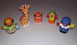 Little People Lot of 5 Figures Parrot Tiger Giraffe Crossing Guard Const... - $6.78