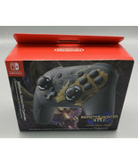 IN HAND Nintendo Switch Limited Edition Monster Hunter Rise Pro Controll... - $114.98