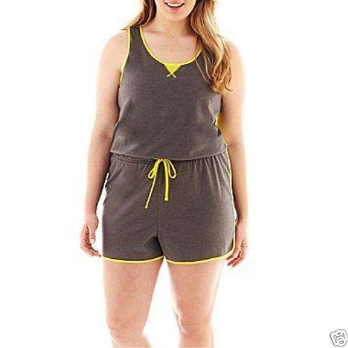 Primary image for City Streets Sleeveless Romper Size S New With Tags Gray MSRP $28.00