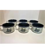 Ruth Pengal Stoneware Set of 6 (Six) Blueberry Pattern Large Signed Vint... - $18.00