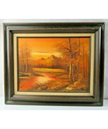 Original Oil Painting on canvas landscape signed Shaver - $100.00