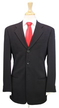 * ARMANI COLLEZIONI * Black Thick Wool 3-Btn Luxury Classic Fit Suit 36R - $276.50