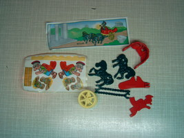 Kinder - K01 44 Roman chariot and horses + paper + sticker - surprise egg - $1.50