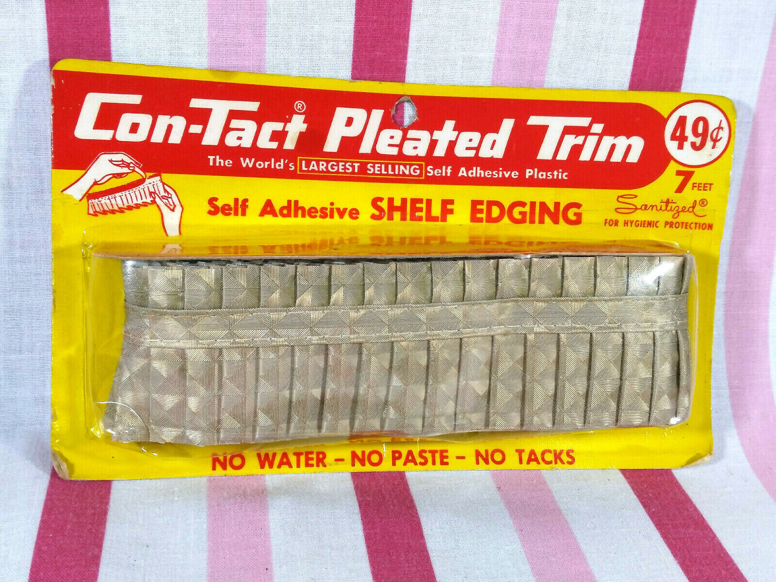 Primary image for Swell 1960's New Old Stock Modern Contact Pleated Shelf Edging Diamond Pattern