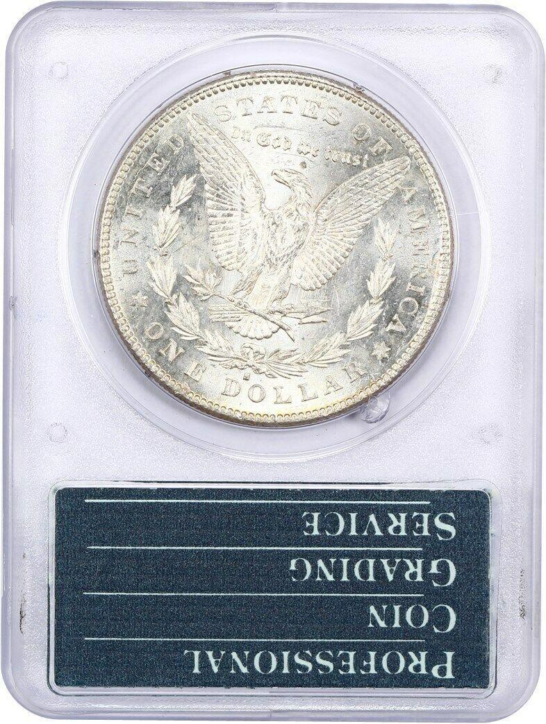 1878-S $1 PCGS MS63 (OGH Rattler Holder) - Morgan Silver Dollar
