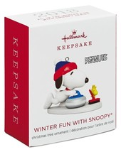 Hallmark: Winter Fun With Snoopy - Series 21st - Miniature Ornament - 2018 - $16.45