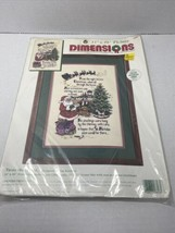 """1995 Dimensions 'Twas the Night Counted Cross Stitch Kit 11""""x16"""" Picture... - $46.74"""