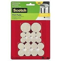 Scotch Felt Pads Value Pack Beige Assorted Sizes 36 Count (SP842-NA) sealed new!