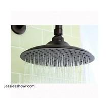 Bathroom Rainfall Luxury Spa Faucet Showerhead Wall Mount Modern Bronze New - $69.78