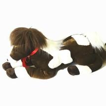 Aurora Horse Stuffed Animal Plush Toy 2016 Brown White Large 24 inch Boy... - $19.79