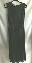 Maggy London Sheer Sleeveless Dress Black  Pleated Bodice Women's Size 10 - $19.60