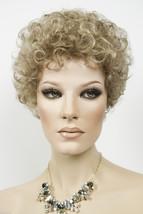 Light Ash Brown  Champagne Blonde Frost Blonde Short Jon Renau Wavy Curly Wigs - $110.40