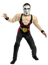 Boys WWE Wrestling Sting Deluxe Muscle Costume with Mask New - ₹2,109.27 INR