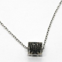 Silver Necklace 925, Tube Angel, Zircon Black, Roberto Giannotti, Man image 1