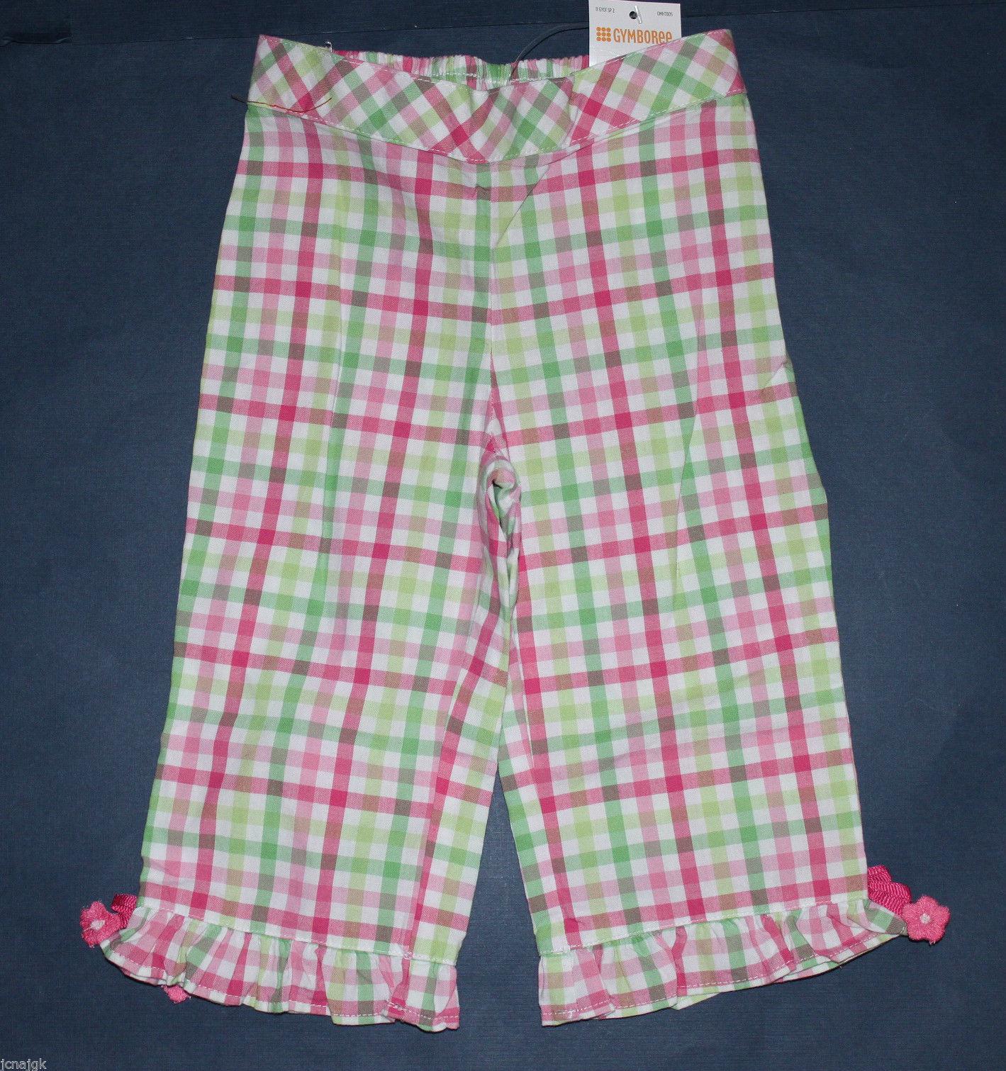 Gymboree All Ruffled Up Blue Polka Dot Pants W/ Pink Ruffles Size 6-12 Mos New Baby & Toddler Clothing Bottoms