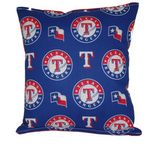 Rangers Pillow Texas Rangers MLB Pillow HANDMADE Baseball Pillow Made In... - $9.99