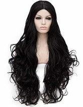 OneUstar Black Wigs Long Wavy Curly Cosplay Wig Halloween Costumes for W... - $25.98