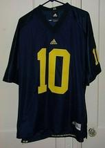 Adidas Mens Large Embroidered University of Michigan #10 Football Jersey - $31.46