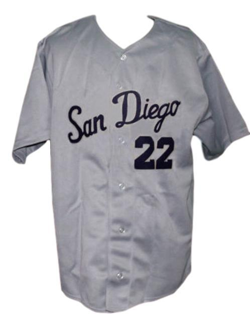 San diego padres pcl retro baseball jersey 1965 button down  grey   1
