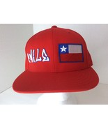 Lids Chile Flag Country Red Custom 3D Embroidered Baseball Fitted Hat Ca... - $23.19
