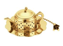 World Cuisine Paderno - Tea Infuser Teapot,Gold-Platd - $16.99