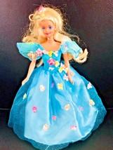 Barbie Doll Blonde Hair Blue Eyes Beautiful Dress  - $17.81