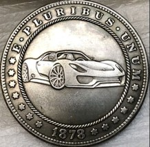 New Hobo Nickel 1878 USA Morgan Dollar Car Viper Porshe Lamborghini Cast... - $11.99