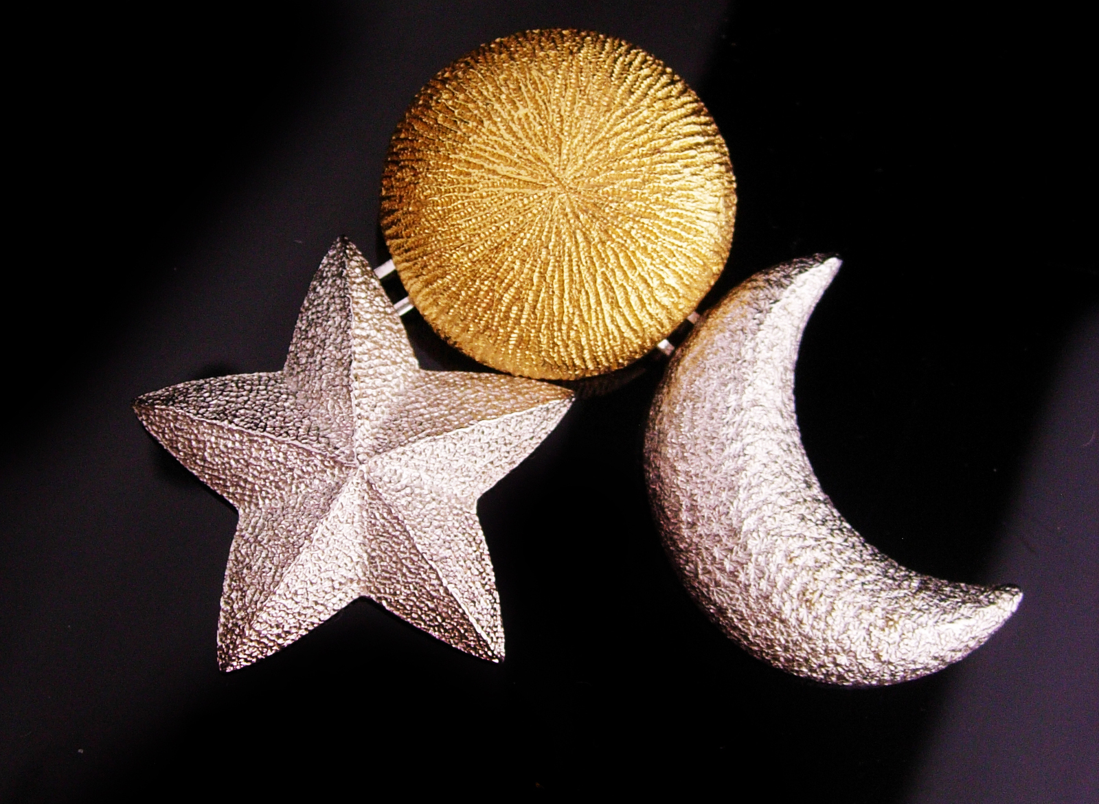 SIgned Christian Dior bijoux - Vintage  chandelier stars moons brooch - couture