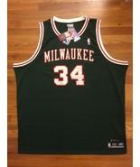 Authentic Reebok Milwaukee Bucks HWC Ray Allen  Green Red White Retro Je... - $499.99
