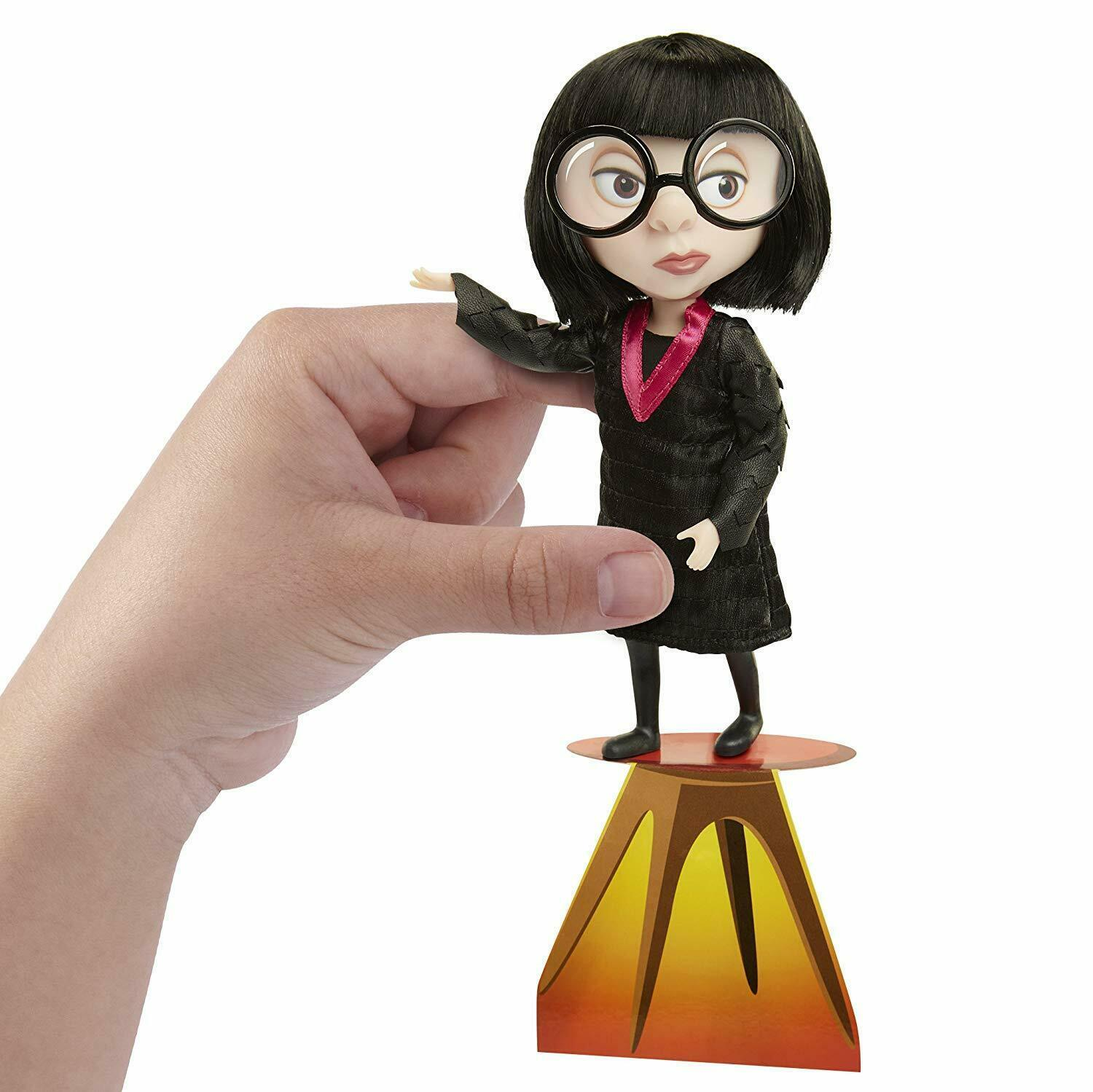 The Incredibles 2 Edna Action Figure Doll in Deluxe Costume and Glasses - $22.09
